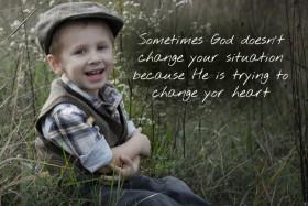 Sometimes God…