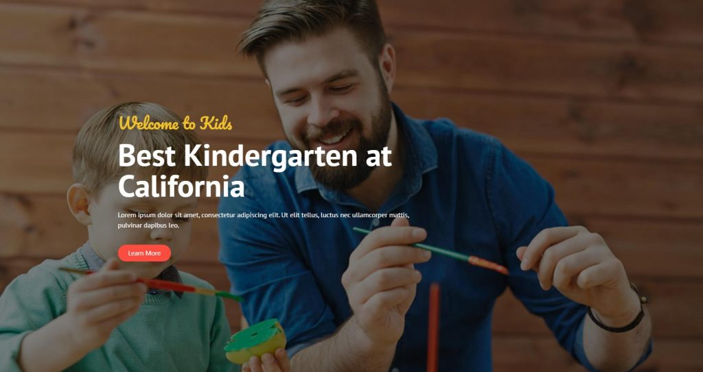 Kindergarten & Child Care Website