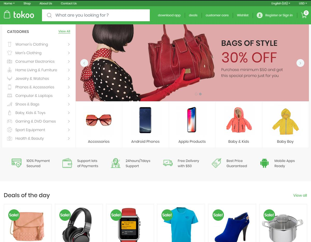 Electronics Store WooCommerce Theme for Affiliates, Dropship and Multi-vendor Websites