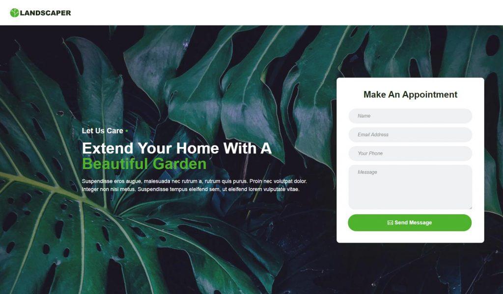 Landscaper Web Page Design
