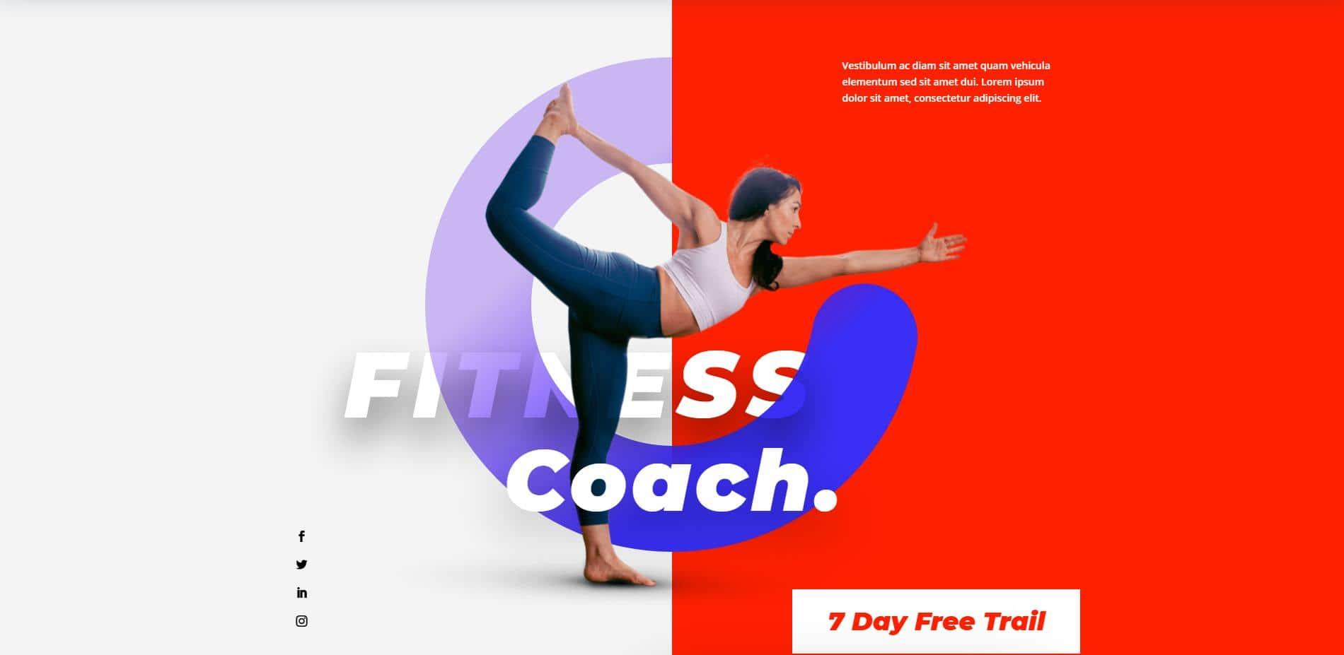 Fitness Coach Website Design