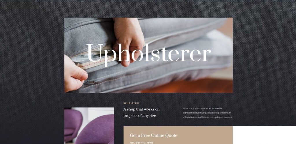 Upholsterer Website Design