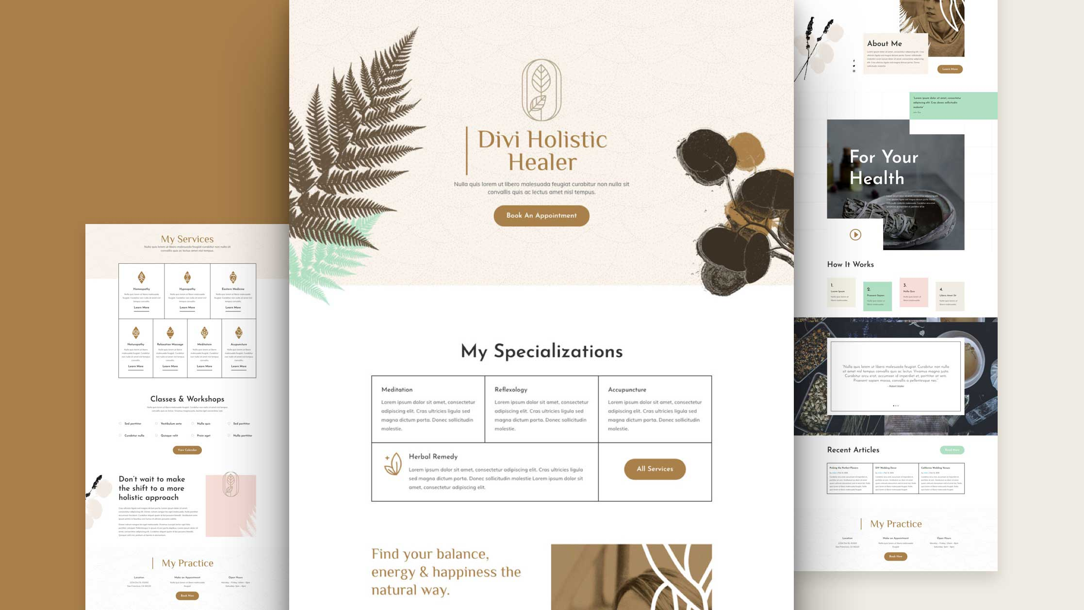 Holistic Medicine Website Design