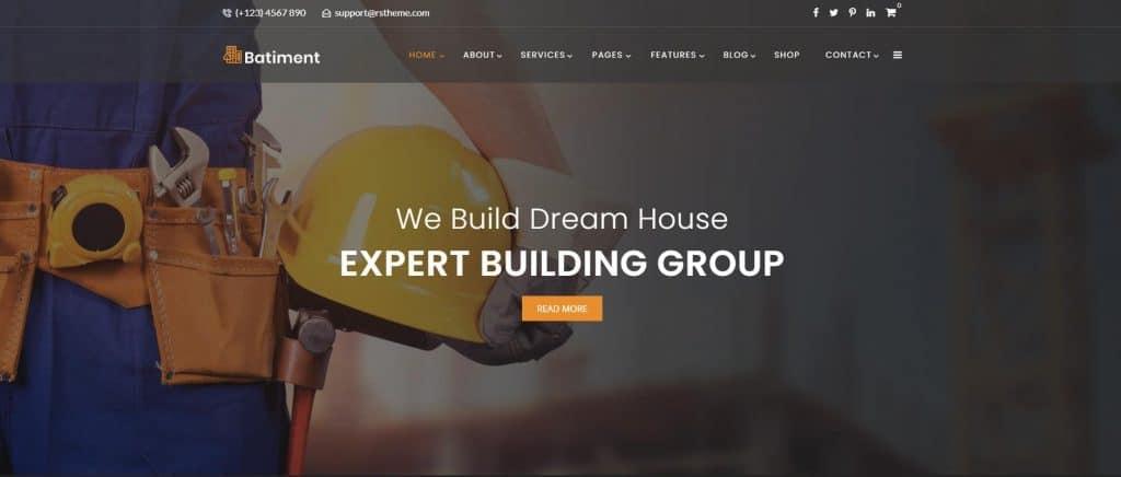 Construction & Building Website Design