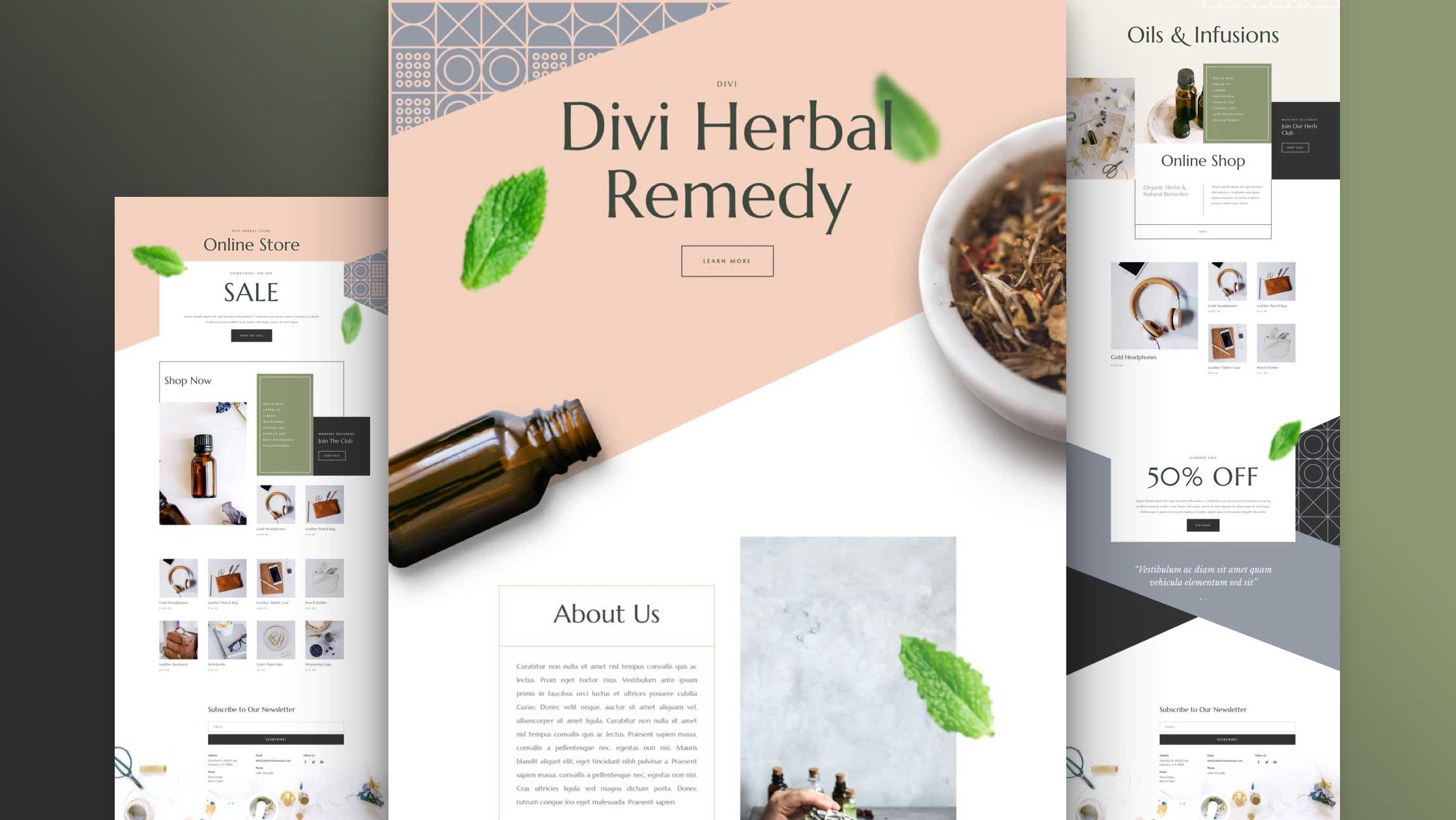 Herbal Remedy Website Design