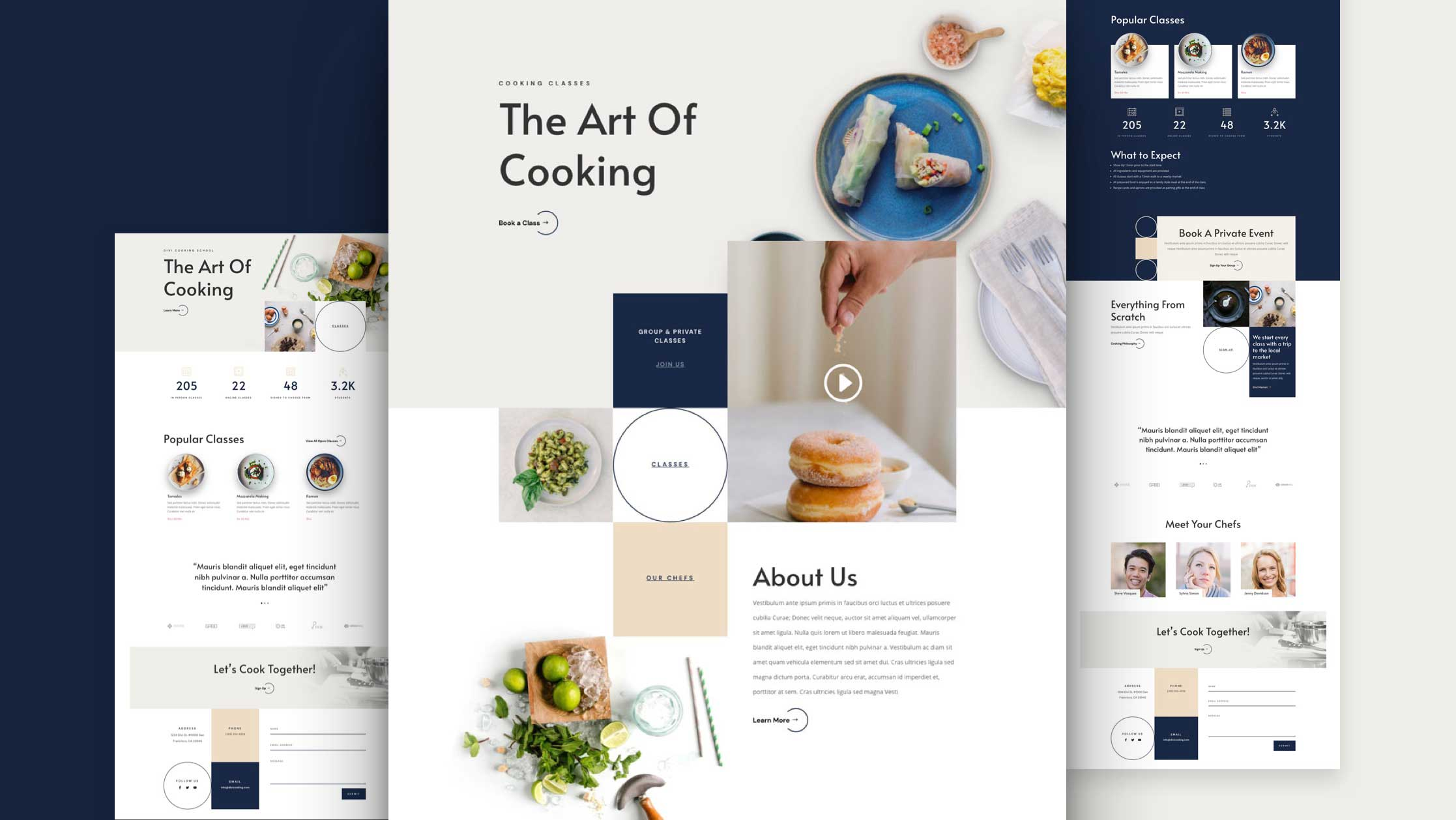 Cooking School Website Design
