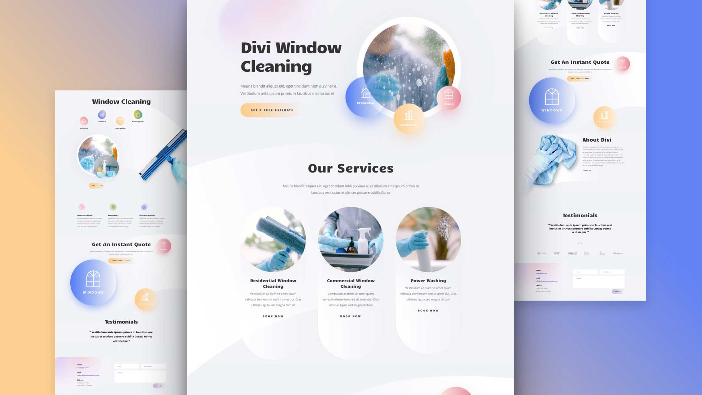 Website for Window Cleaning Company