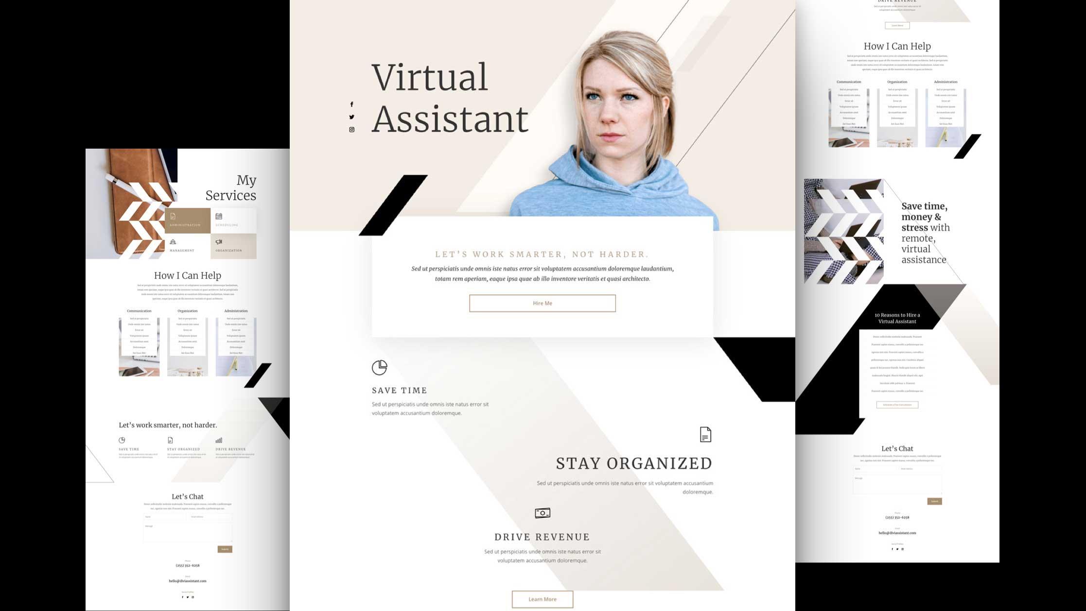 Virtual Assistant Website Design