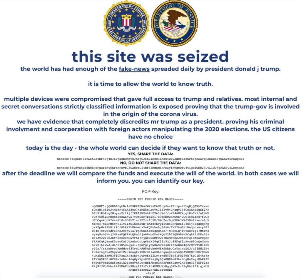 Donald Trump's campaign website was hacked!