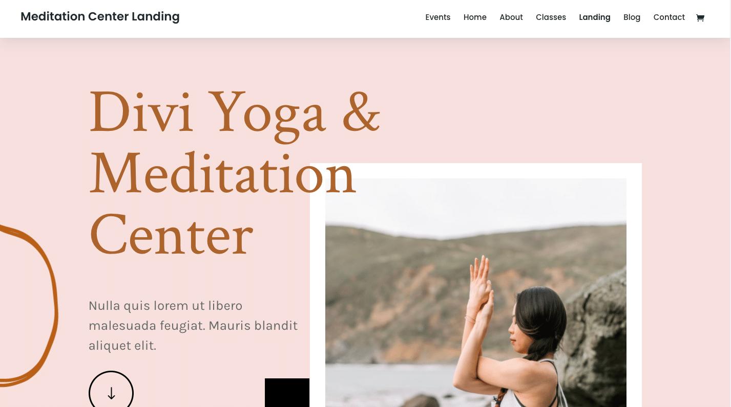 Meditation and Yoga website design
