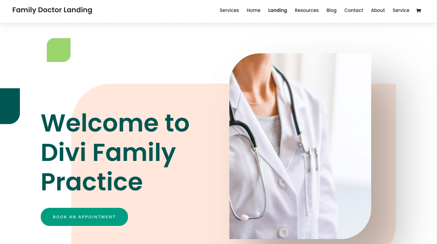 Family Doctor Website Design